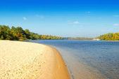 Empty beach and ripples — Stock Photo