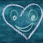 Heart drawn — Stock Photo