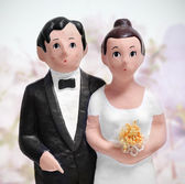 Couple wedding cake topper — Stock Photo