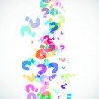 Question marks background — Stock Photo