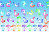 Question marks background — 图库照片