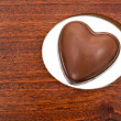 Heart shaped chocolate — Stock Photo