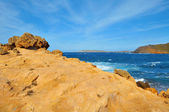 View of Binimela beach in Menorca, Balearic Islands, Spain — Stock Photo