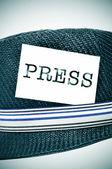 Journalist hat — Stock Photo