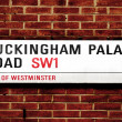 Stock Photo: Buckingham Palace Road, in London, United Kingdom