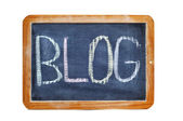 Blog in a blackboard — Stockfoto