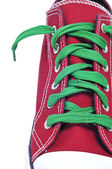Closeup of a red sneaker — Stock Photo