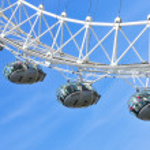 London Eye, in London, United Kingdom — Stock Photo