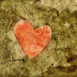 Stock Photo: Old paper heart