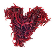 Grated beet heart — Stock Photo