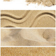 Sand collage — Stock Photo