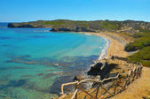 View of En Tortuga beach in Menorca, Balearic Islands, Spain — Stock Photo