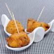 Cod fritters spanish tapas — Stock Photo