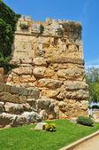 タラゴナ、スペインで記念碑的なローマ時代の城壁にミネルバの塔 — ストック写真