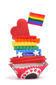 Gay cupcake — Stock Photo