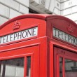 Classic red phone box in London, United Kingdom — Stock Photo