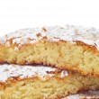 Tarta de Santiago, typical almond pie from Spain - Stock Photo