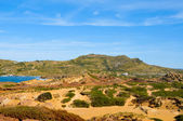 Es Pla Vermell and Binimela coast in Menorca, Balearic Islands, — Stock Photo