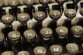 Ancient typewriter — Stock Photo