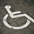 Disabled parking permit — Stock Photo