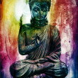Buddha background — Stock Photo