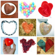 Royalty-Free Stock Photo: Hearts collage