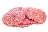 Raw burgers — Stock Photo