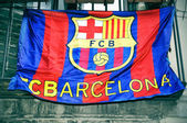 Bandeira do barcelona fc — Fotografia Stock