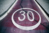 Speed limit sign — Stock Photo