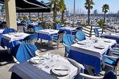 Restaurant terrace in Barcelona, Spain — Stock Photo