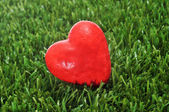 Heart on the grass — Stock Photo