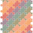 Puzzle pattern vector design template. — Stock Vector
