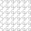 Stock Vector: Puzzle black and white pattern vector template design.