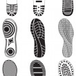 Vector illustration set of footprints. — Stock Vector #6432278