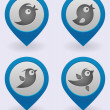 Bird icons set — Stock Vector #5775091