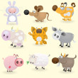 Domestic animals set — Imagen vectorial