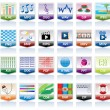 Document icons set — Stock Vector