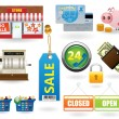 Stock Vector: Shopping icon set#2