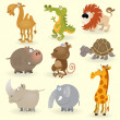 Wild animals set (Animals of Africa) — Imagen vectorial