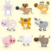 Domestic animals set — Stock Vector