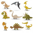 Stock Vector: Dinosaurs set