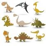 Dinosaurs set — Stock Vector