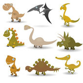 Dinosaurs set — Stock Vector