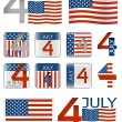 4 july - Stock Vector