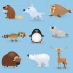 Wild animals set #3 — Stock Vector