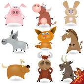 Cartoon animals set #1 — Stock Vector