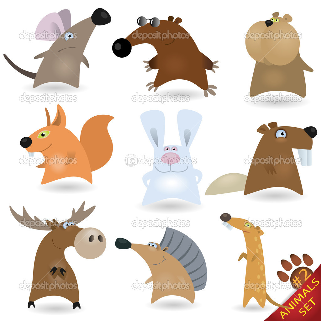 Cartoon animals set #2 — Stock Vector #6005609
