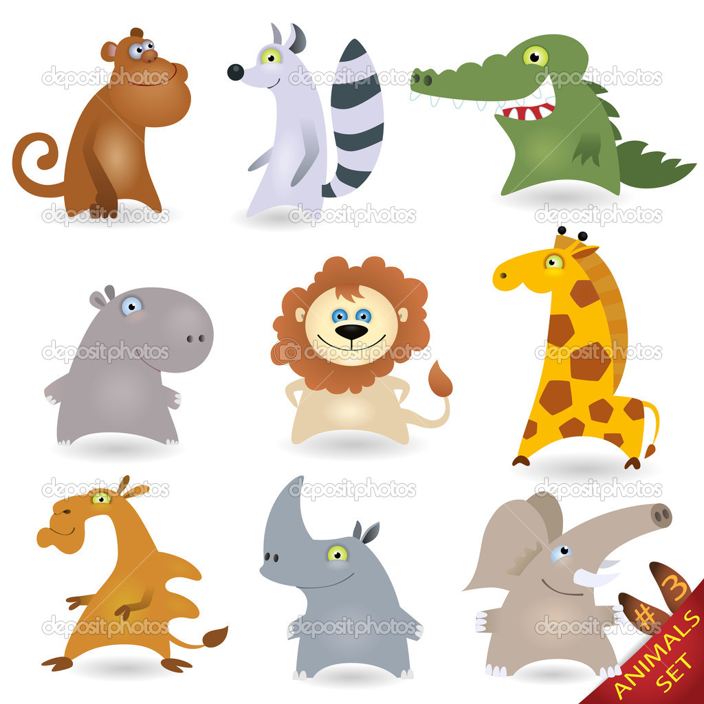 Cartoon animals set #3 — Stock Vector #6005614