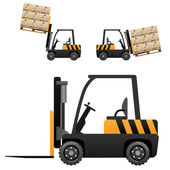 Forklift loader — Stock Vector
