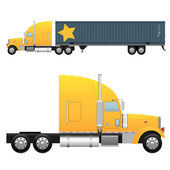 Heavy cargo truck — Stock Vector